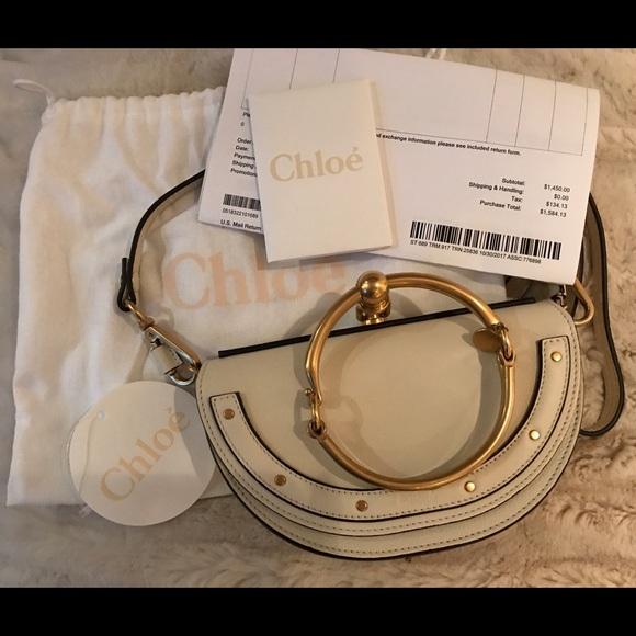 36ca4d53c1 Brand New White Chloe Small Nile Minaudiere Bag NWT